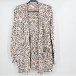 Mossimo S Cardigan Sweater Open Multicolor Knit